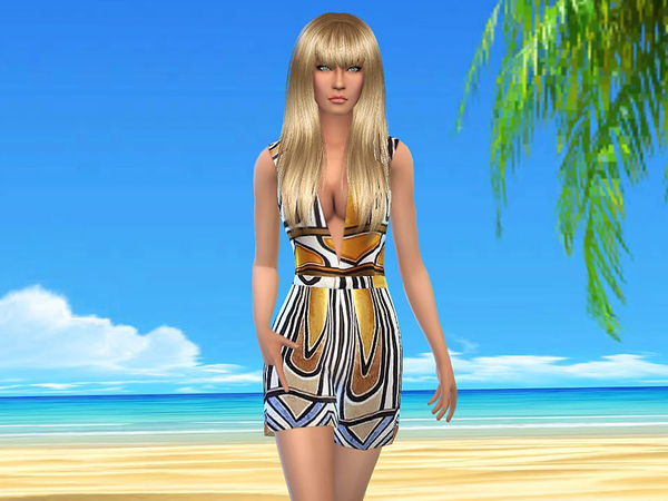 Summer romper modern Art by sweetsims4 at TSR image 539 Sims 4 Updates