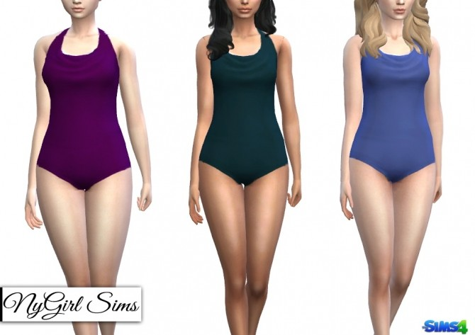 Cowl Back One Piece Swimsuit at NyGirl Sims image 5413 670x473 Sims 4 Updates