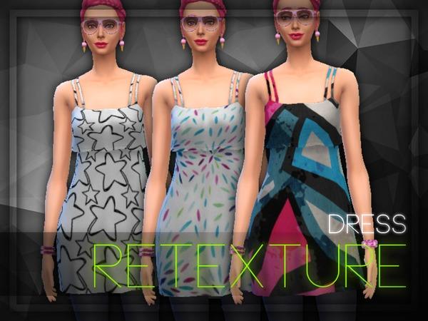 Sims 4 Dress Retexture by elliskane3 at TSR