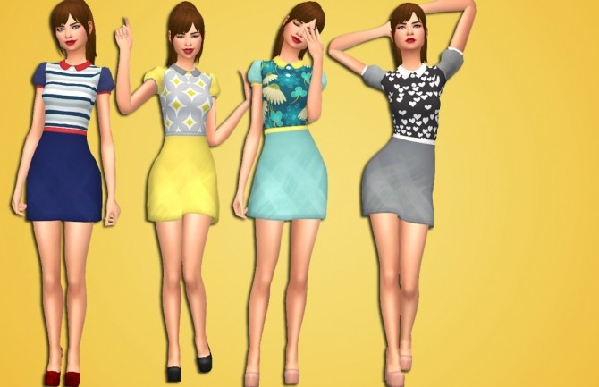Sims 4 Blossom Dress by Annabellee25 at SimsWorkshop