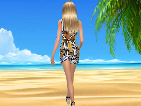 Summer romper modern Art by sweetsims4 at TSR image 549 Sims 4 Updates