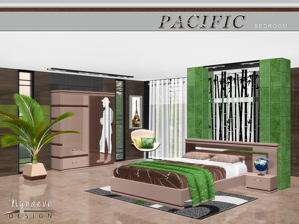 Sims 4 Pacific Heights Bedroom by NynaeveDesign at TSR