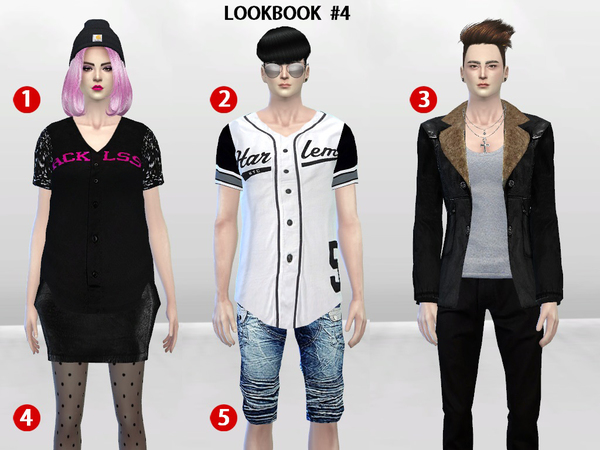 Sims 4 McKenzie LookBook Set 4 by McLayneSims at TSR