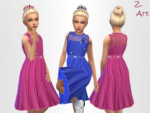 Sims 4 Small Gown by Zuckerschnute20 at TSR