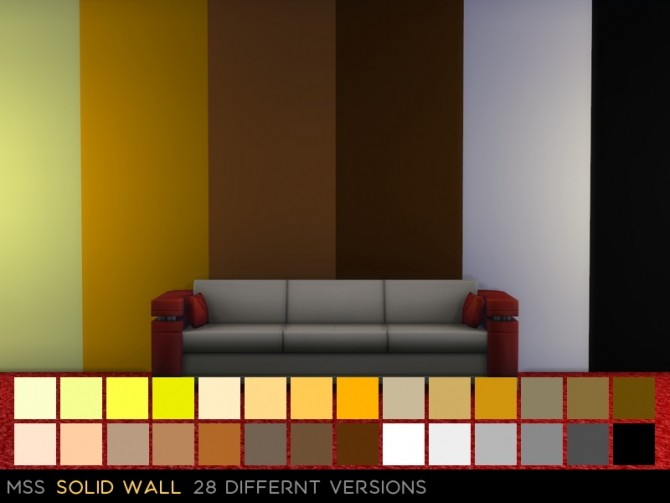Sims 4 Solid Wall by midnightskysims at SimsWorkshop