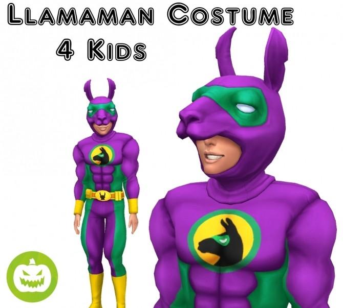 Sims 4 Llamaman Costume 4 Kids by VentusMatt at Mod The Sims