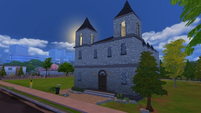 Sims 4 Old Sim Church by philips99 at Mod The Sims