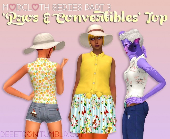 Pros & Convertibles Top by dtron at SimsWorkshop image 587 670x550 Sims 4 Updates