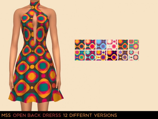 Sims 4 Open Back Dress by midnightskysims at SimsWorkshop