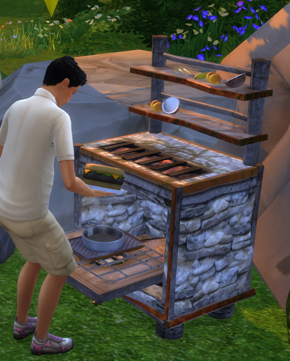 Sims 4 CS Native Indoor Oven functional by BigUglyHag at SimsWorkshop
