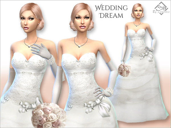 Wedding Dream Dress by Devirose at TSR image 6416 Sims 4 Updates