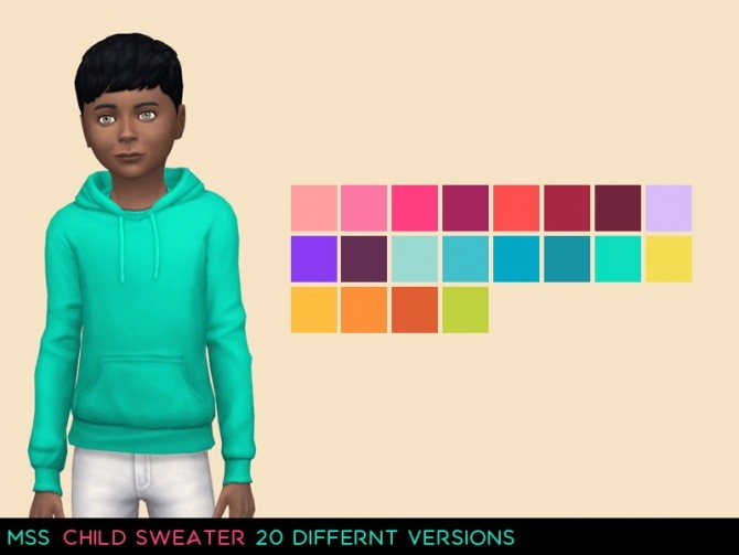 Sims 4 Child Sweater by midnightskysims at SimsWorkshop