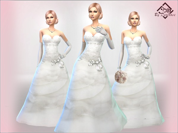 Wedding Dream Dress by Devirose at TSR image 6516 Sims 4 Updates