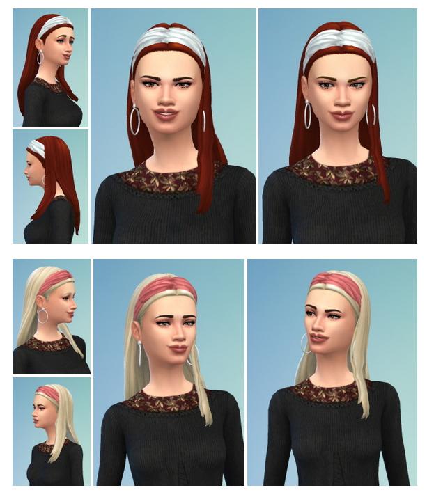 Sims 4 Wide Headband Hair female at Birksches Sims Blog