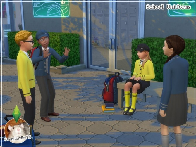 Sims 4 School Uniforms by Standardheld at SimsWorkshop