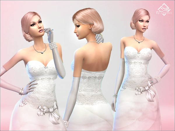 Wedding Dream Dress by Devirose at TSR image 6616 Sims 4 Updates