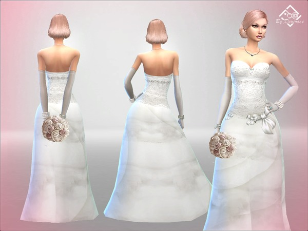 Wedding Dream Dress by Devirose at TSR image 6714 Sims 4 Updates