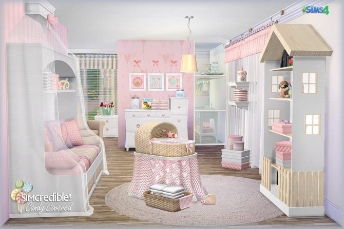 Candy Covered nursery & kids room (Free + Pay) at SIMcredible! Designs 4 image 673 670x447 Sims 4 Updates