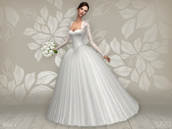 Wedding Dress Cynthia At Beo Creations Sims 4 Updates