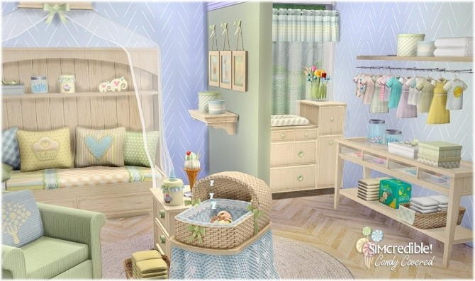 Candy Covered nursery & kids room (Free + Pay) at SIMcredible! Designs 4 image 693 670x397 Sims 4 Updates