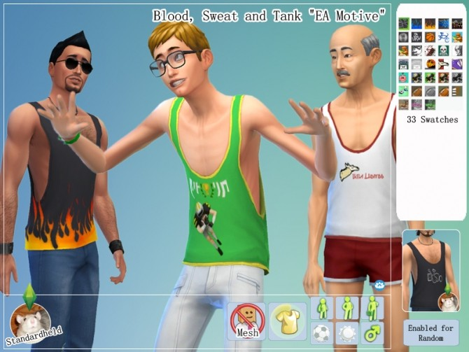 Sims 4 Recolors of EA and Lumia Lovers tank tops by Standardheld at SimsWorkshop