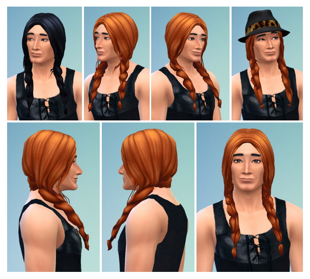 Sims 4 Braids for Her & Him at Birksches Sims Blog