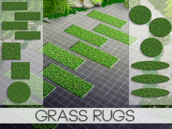 Sims 4 Grass Rugs by Pralinesims at TSR