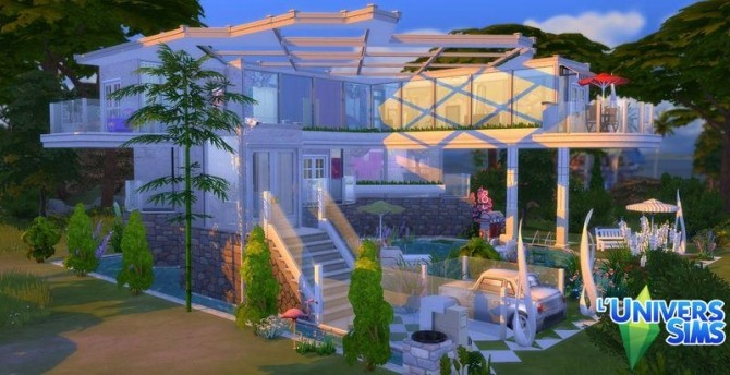 Sims 4 Boulle house by Coco Simy at L'UniverSims