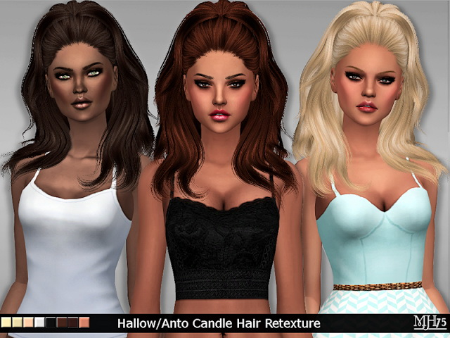 Hallow/Anto Candle Hair Retexture by Margeh75 at Sims Addictions image 7510 Sims 4 Updates