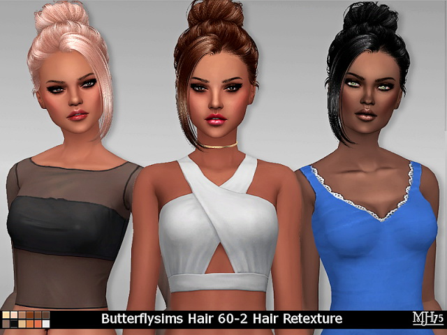 Sims 4 S4 Butterflysims Hair 60 2 Retexture by Margeh75 at Sims Addictions