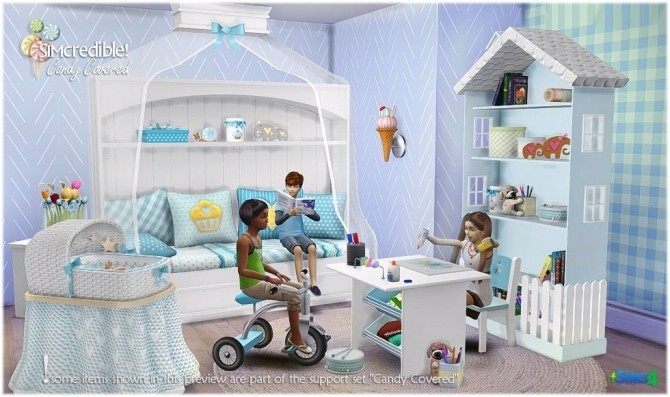 Candy Covered nursery & kids room (Free + Pay) at SIMcredible! Designs 4 image 753 670x397 Sims 4 Updates