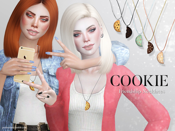 Cookie Friendship Necklaces by Pralinesims at TSR image 760 Sims 4 Updates