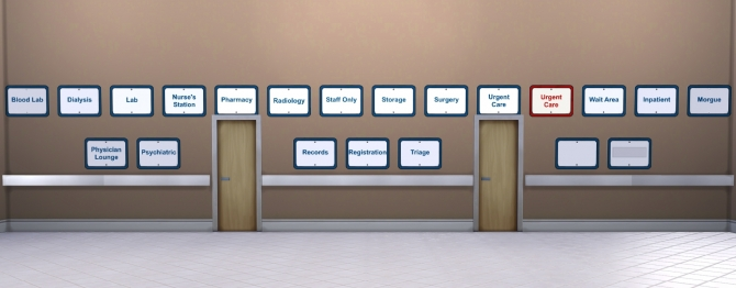 Basic Hospital Signs By Eastwind580 At Mod The Sims 187 Sims