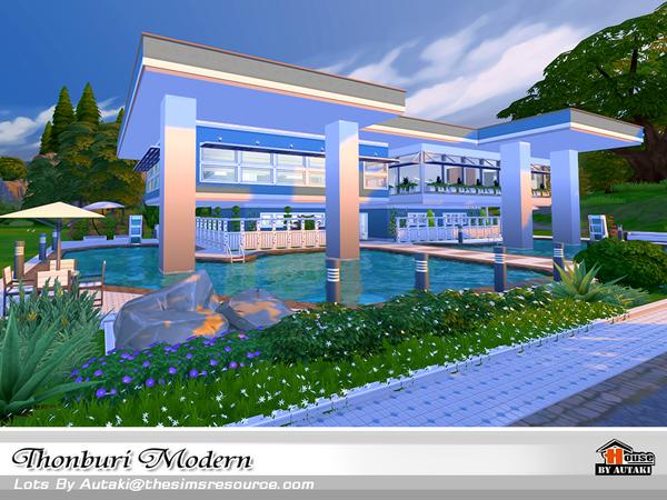 Thonburi Modern house by autaki at TSR image 7616 Sims 4 Updates