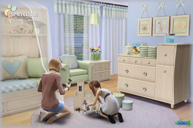 Candy Covered nursery & kids room (Free + Pay) at SIMcredible! Designs 4 image 763 670x447 Sims 4 Updates