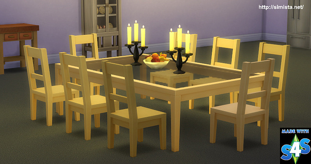 Kahuna Wider Dining Table At Simista Sims 4 Updates