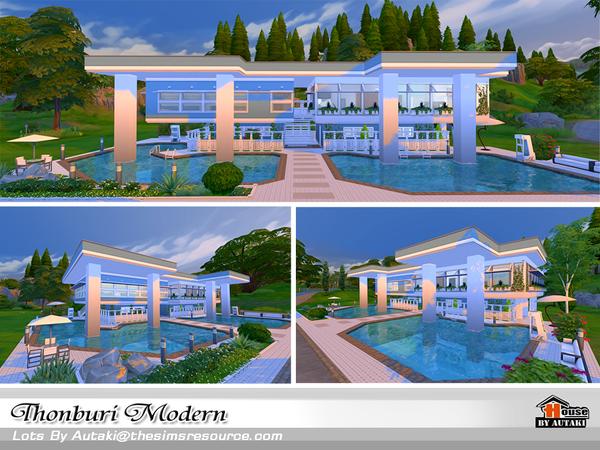 Thonburi Modern house by autaki at TSR image 7715 Sims 4 Updates