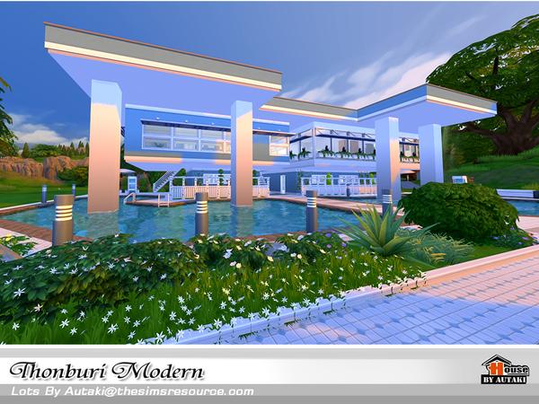Thonburi Modern house by autaki at TSR image 7815 Sims 4 Updates