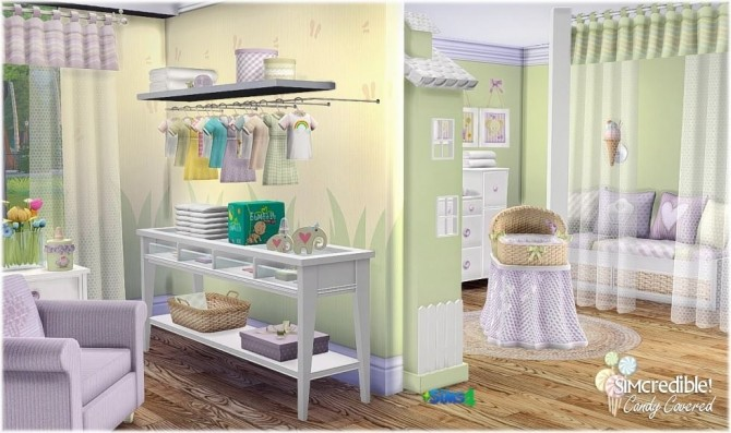 Candy Covered nursery & kids room (Free + Pay) at SIMcredible! Designs 4 image 783 670x397 Sims 4 Updates