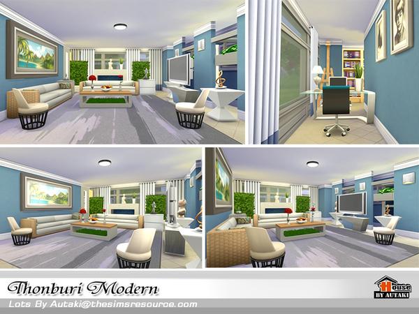 Thonburi Modern house by autaki at TSR image 7913 Sims 4 Updates