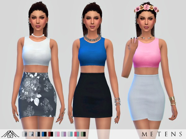 Sims 4 Work Dress by Metens at TSR