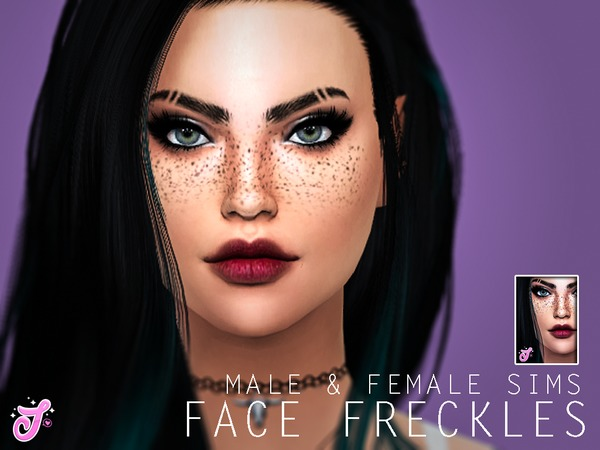 Sims 4 Jessis Face Freckles by SenpaiSimmer at TSR