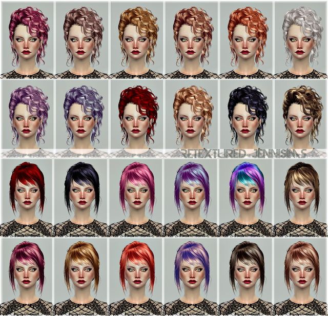 Sims 4 Newsea DiscoBall,Arterton,Newsea Bonnie,Sophie Hairs retextures at Jenni Sims