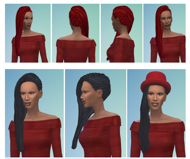 Sims 4 Long Dreadlocks female at Birksches Sims Blog