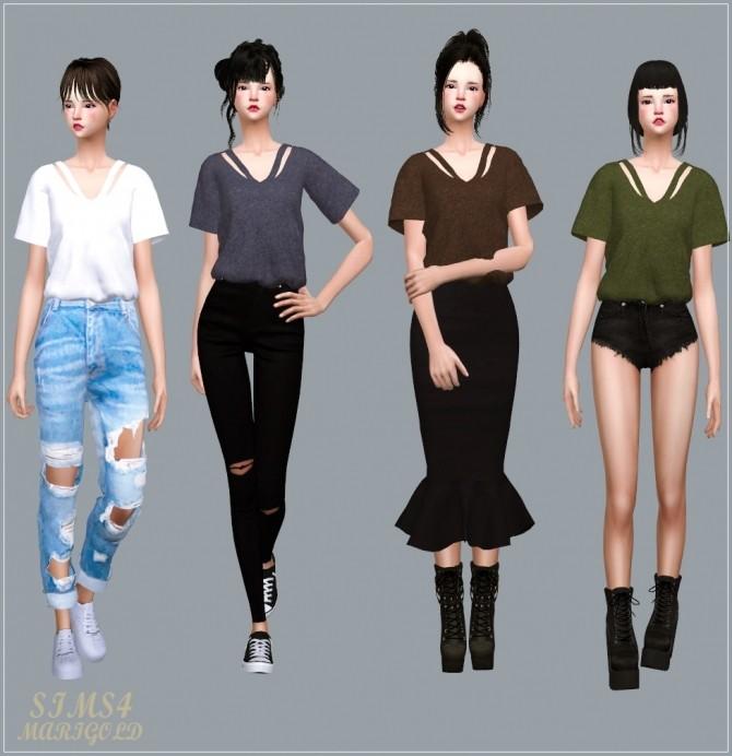 Sims 4 V Line Top at Marigold