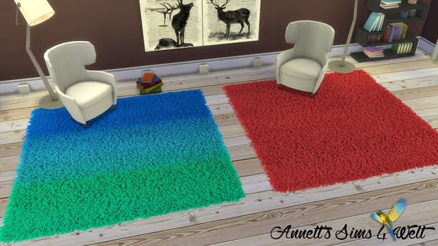 Sims 4 Fluffy Square Rugs at Annett's Sims 4 Welt