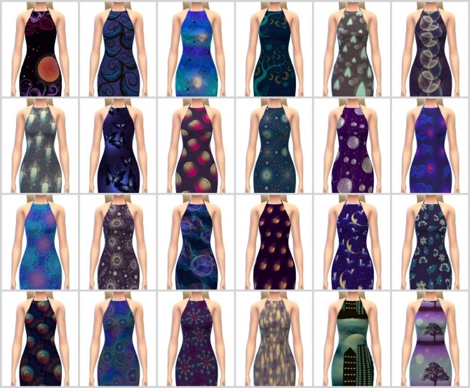 Sims 4 Ribbed Dress Recolors at Maimouth Sims4