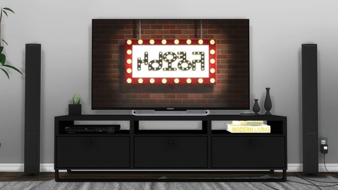 Large Modern White Tv Stand