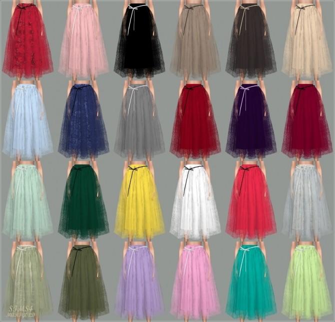 Sims 4 Ribbon Ballerina Long Skirt at Marigold