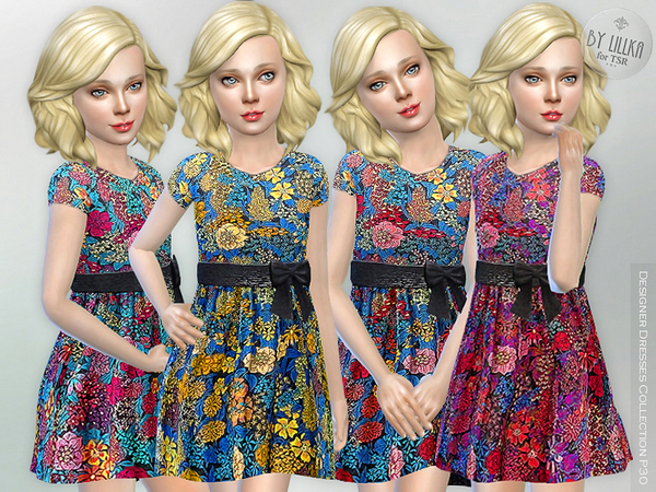 Sims 4 Designer Dresses Collection P30 by lillka at TSR